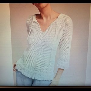 Anthropologie Cropped Knit Top